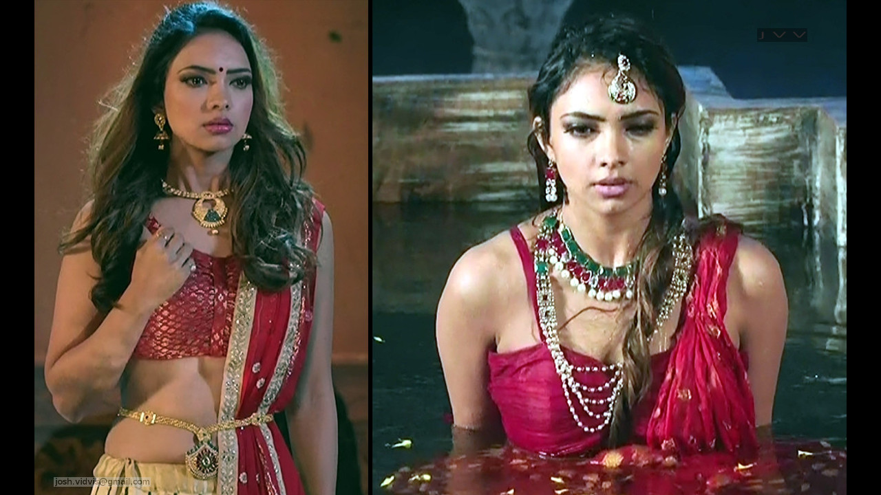 Pooja banerjee hot caps in sleeveless dress from Chandrakanta