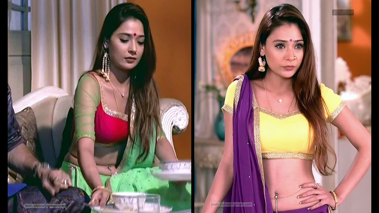 Sara Khan Indian TV Actress Hot navel show in Lehenga Choli