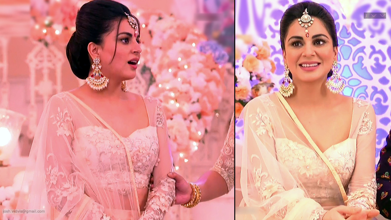 Shraddha Arya hindi serial actress caps in lehenga choli