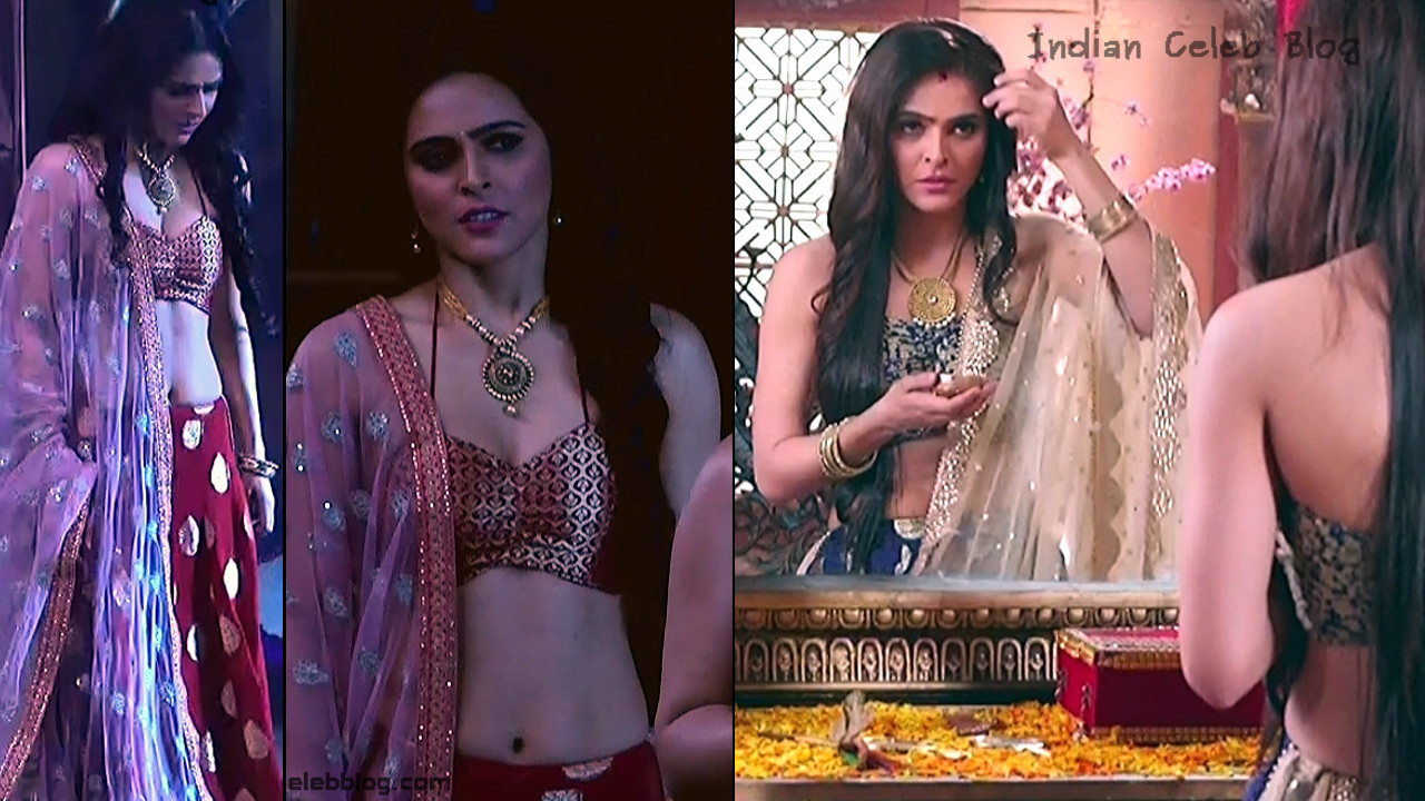 Madhurima Tuli hot navel and backless Caps from  Chandrakanta