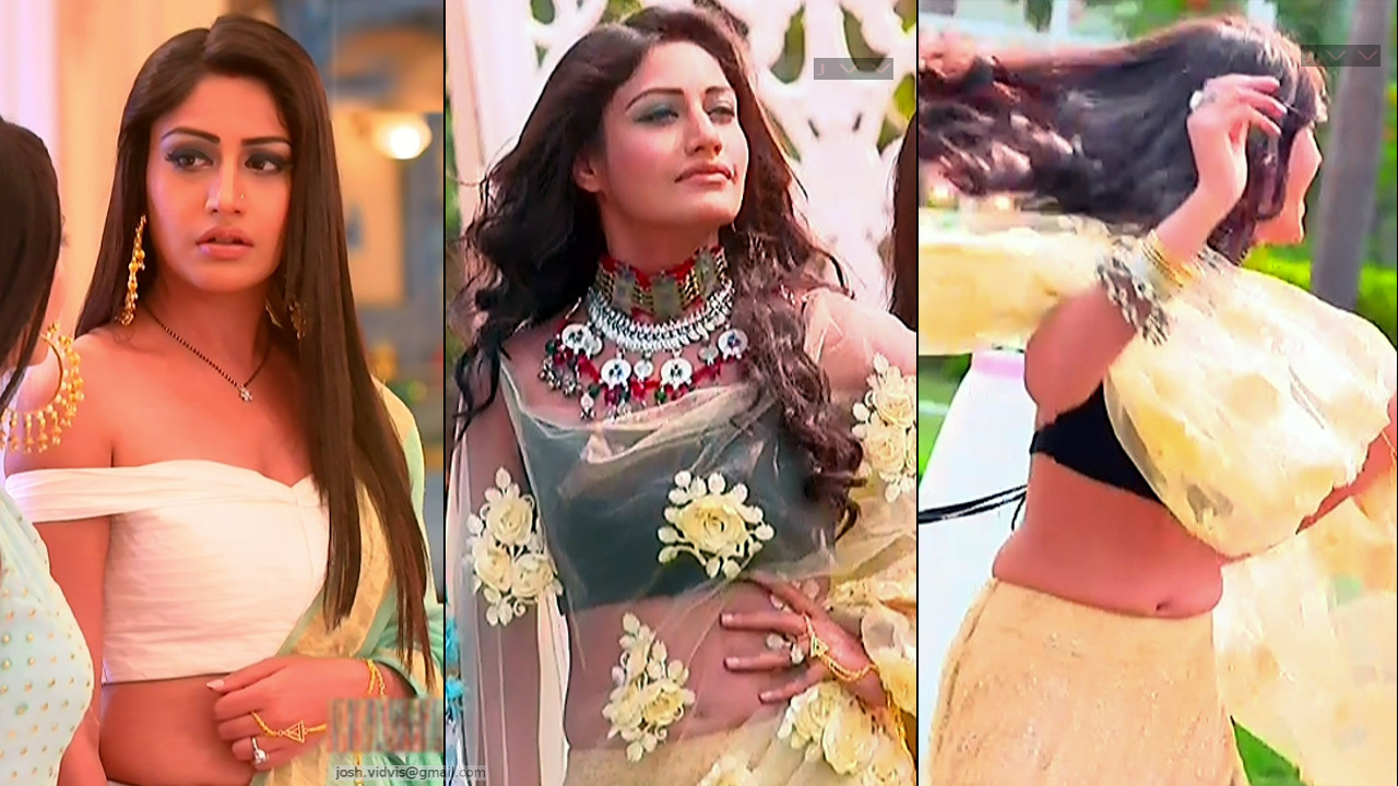 Surbhi Chandna TV actress hot caps in lehenga choli