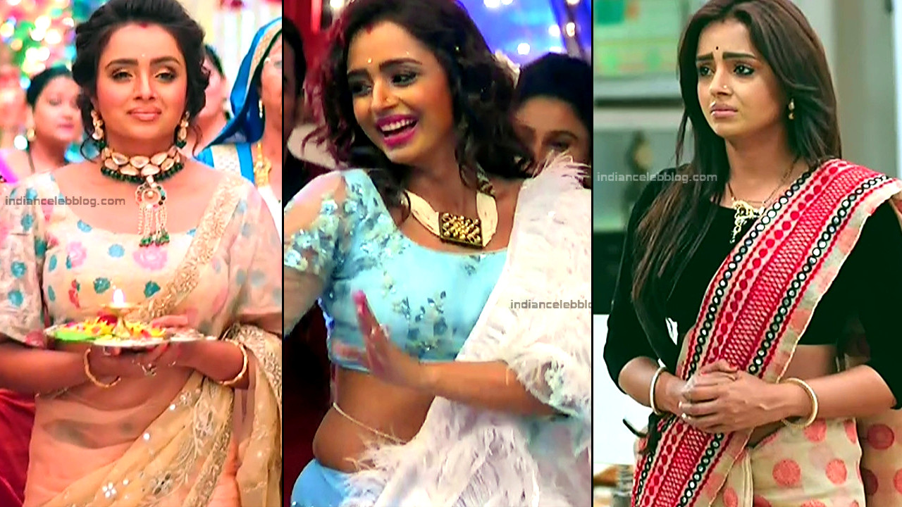 Parul chauhan hot saree navel show hd tv caps