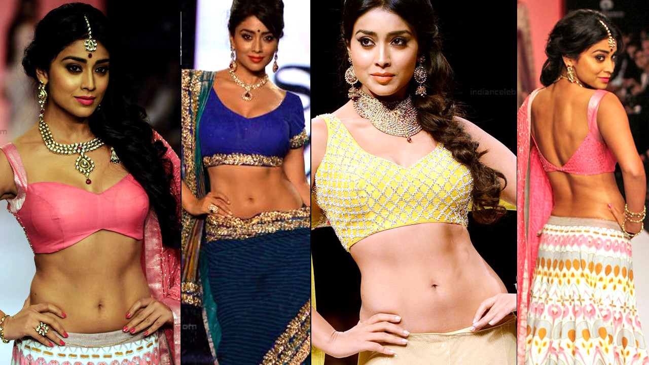 Shriya Saran Hot Fashion show ramp walk photos