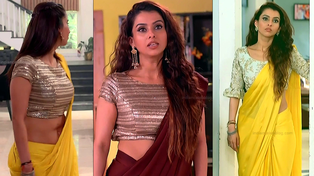 Pranitaa Pandit midriff n back show in sari hd tv caps