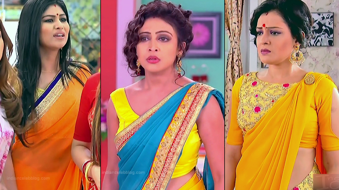 Bengali TV serial actress caps in saree