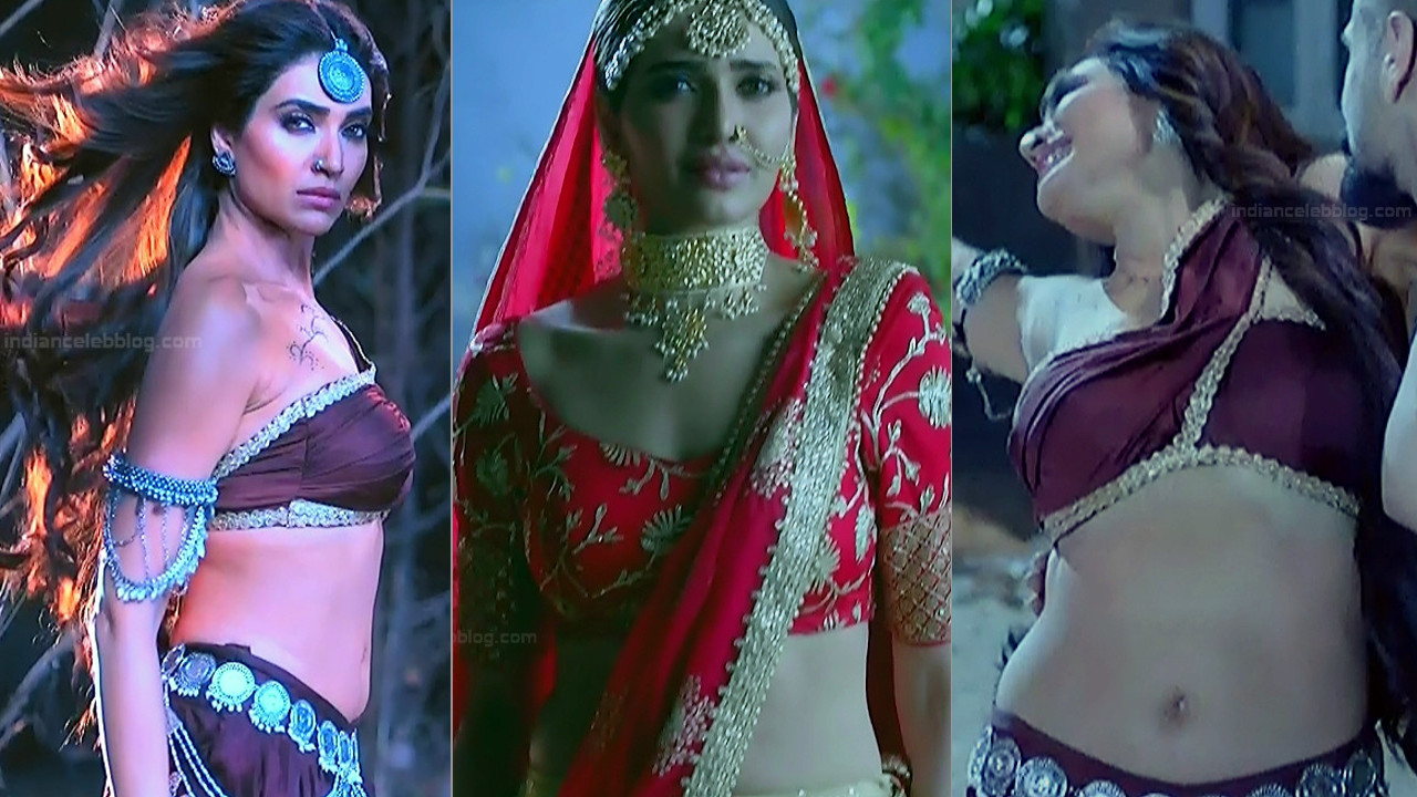 Karishma Tanna sexy navel n cleavage show Naagin 3 hd caps