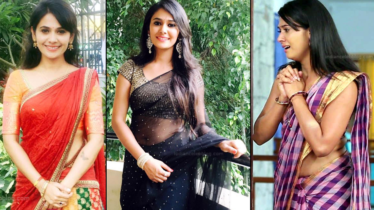 Kavya Gowda Kannada TV celeb hot saree photos