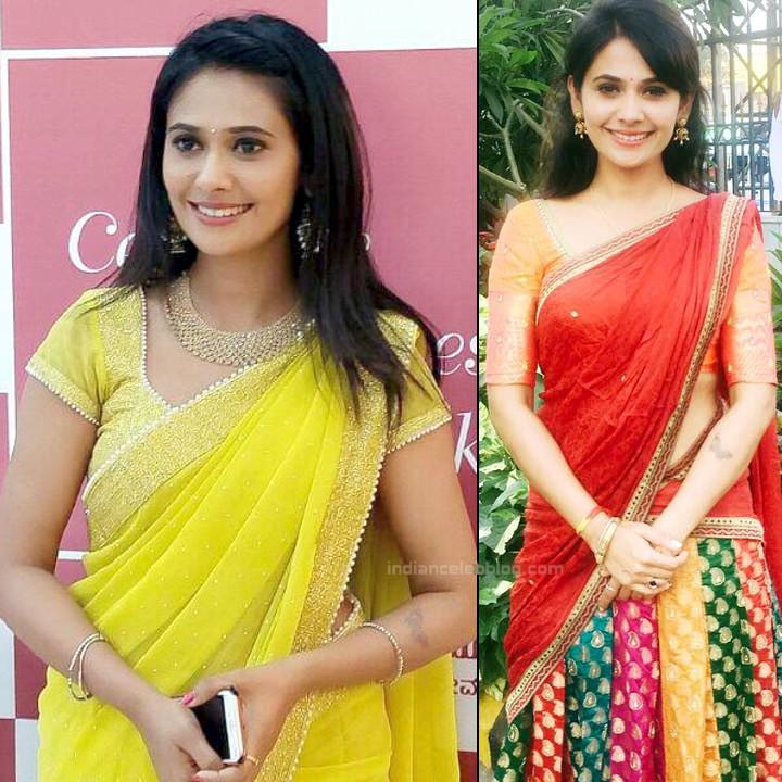 Kavya Gowda Kannada TV Actress Photos In Saree