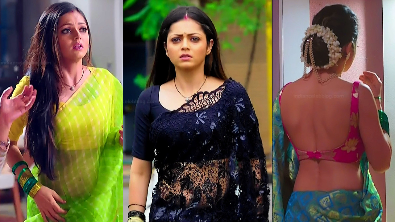Drashti Dhami sexy backless low waist saree HD tv caps