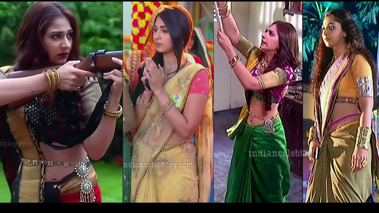 Vidhi Pandya spicy saree navel show Caps from Udaan serial