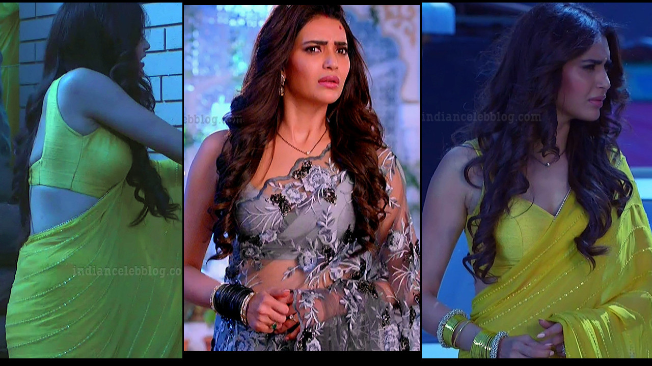Karishma Tanna hot backless saree show, hindi HD Tv caps