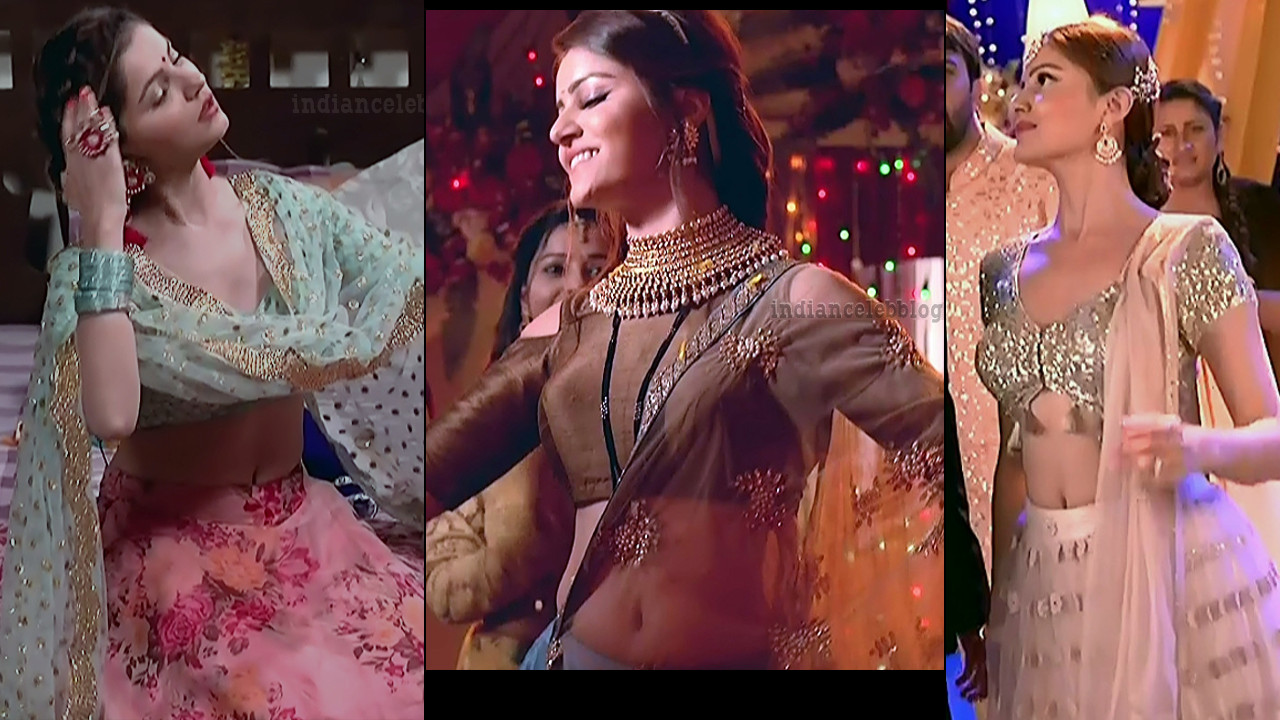 Rubina dilaik hot lehenga choli caps from  Shakti serial