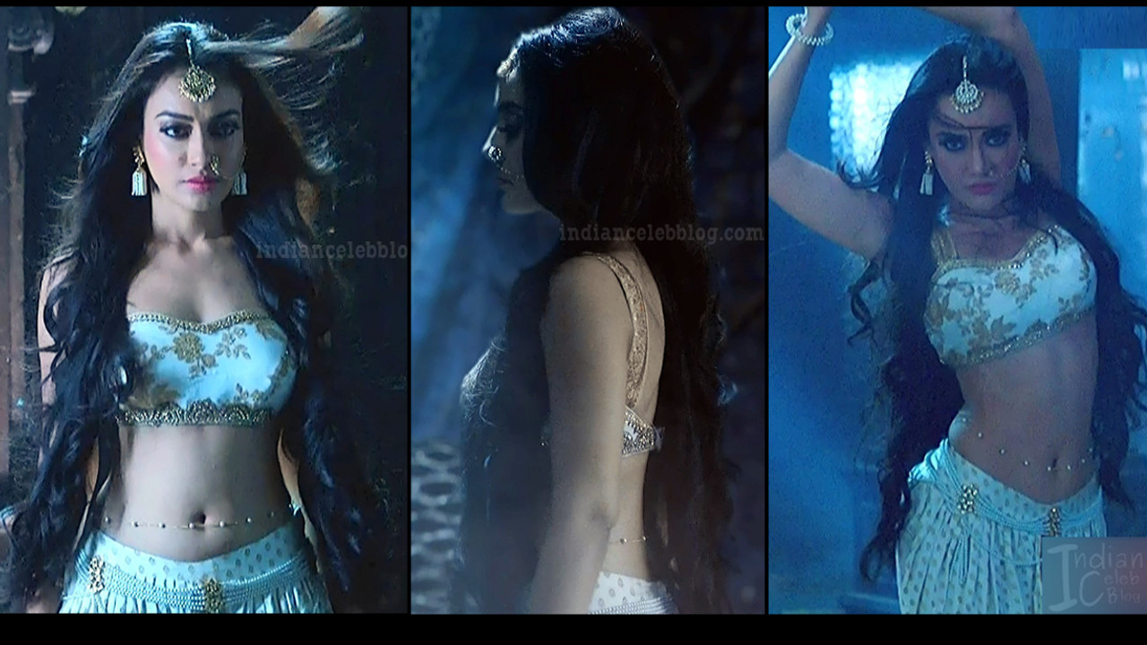 Surbhi Jyoti hot backless show Naagin 3 Caps