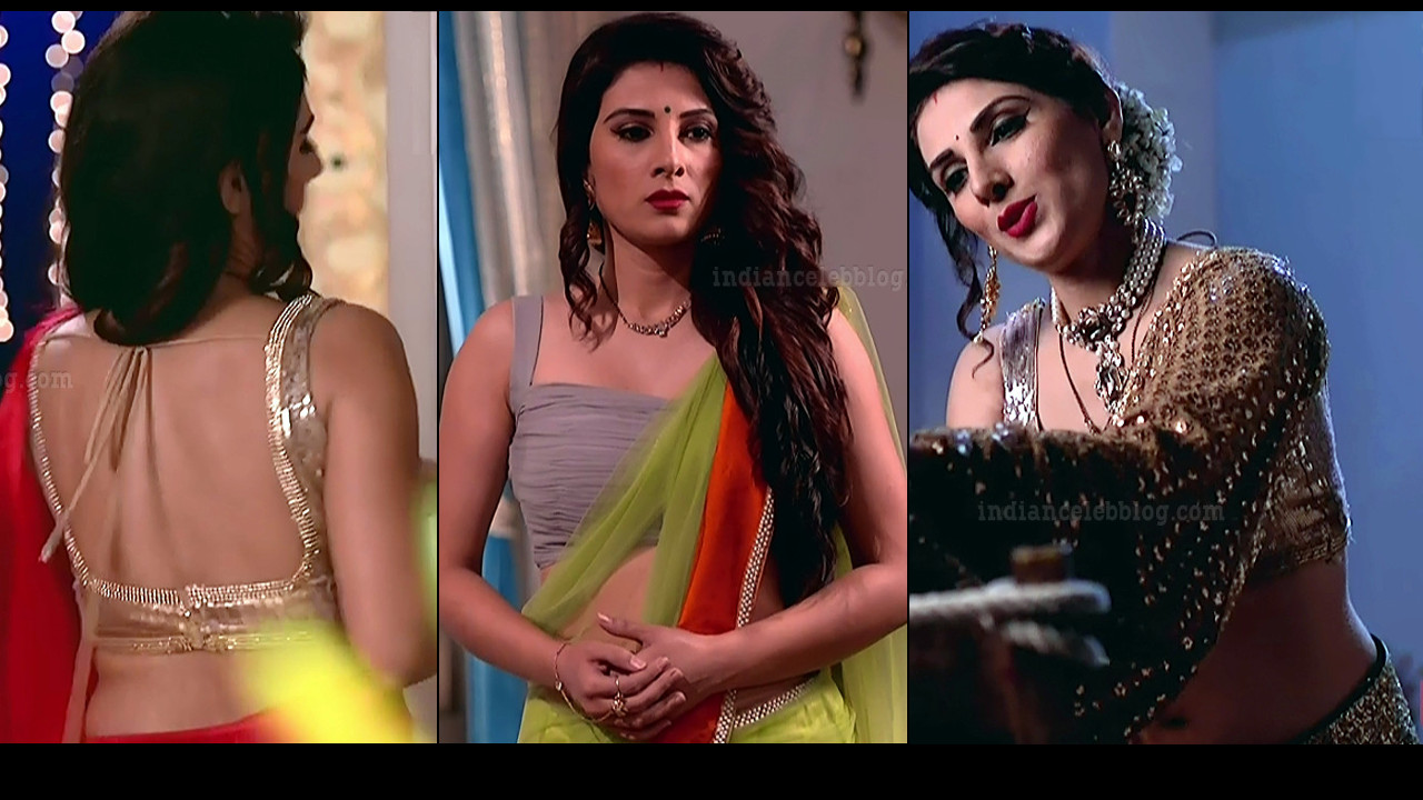 Tiya gandwani hot backless saree show hindi tv hd caps
