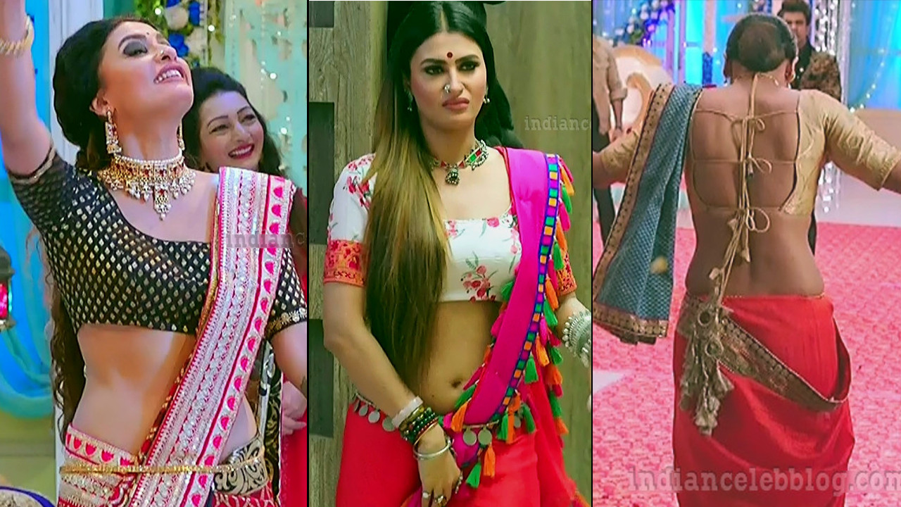 Pavitra punia Naagin 3 sexy navel n backless show, HD caps