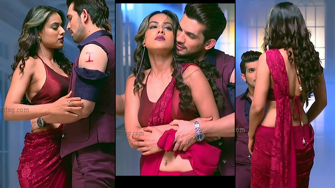 Nia Sharma hindi tv actress pierced navel show hd caps