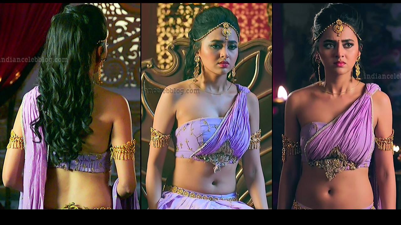 Tejaswi Prakash Karn sangini hot navel show HD tv caps