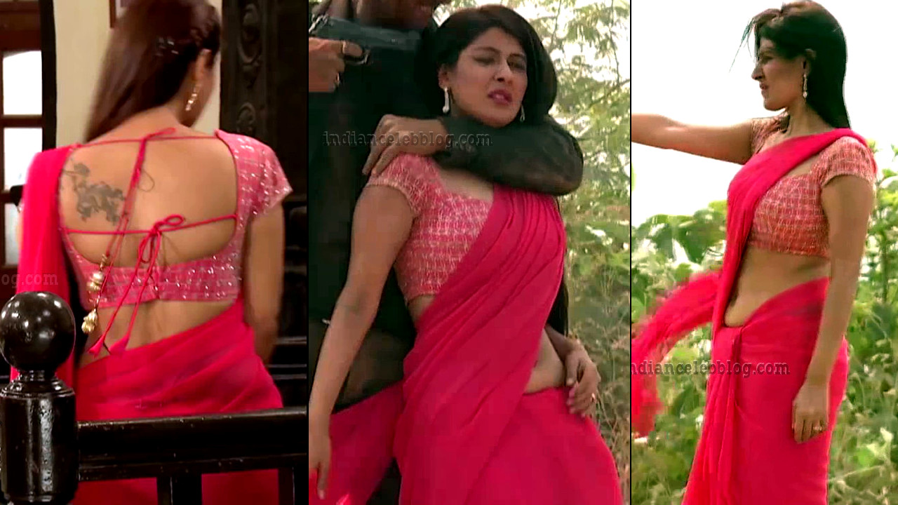 Shagun ajmani Jamai raja serial hot backless sari Caps