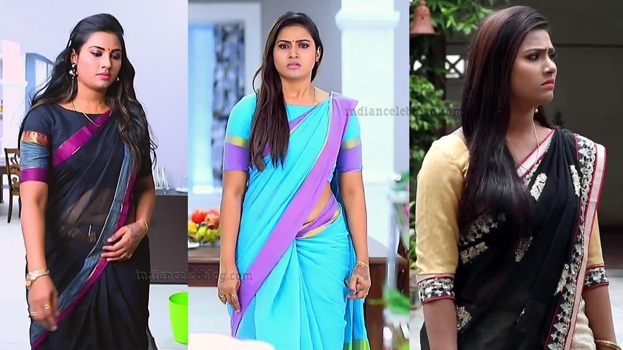 Divya Ganesh Tamil TV Serial Actress Pics N Caps In Saree