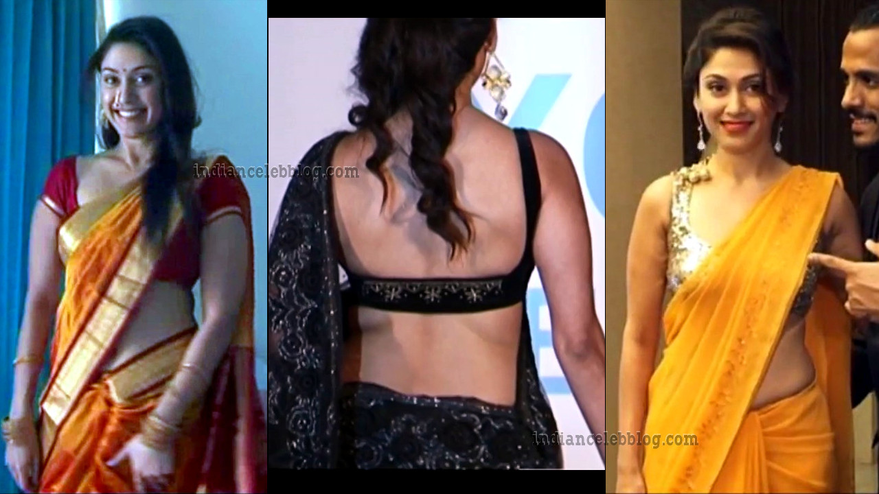 Manjari Phadnis hot saree pics at bollywood events