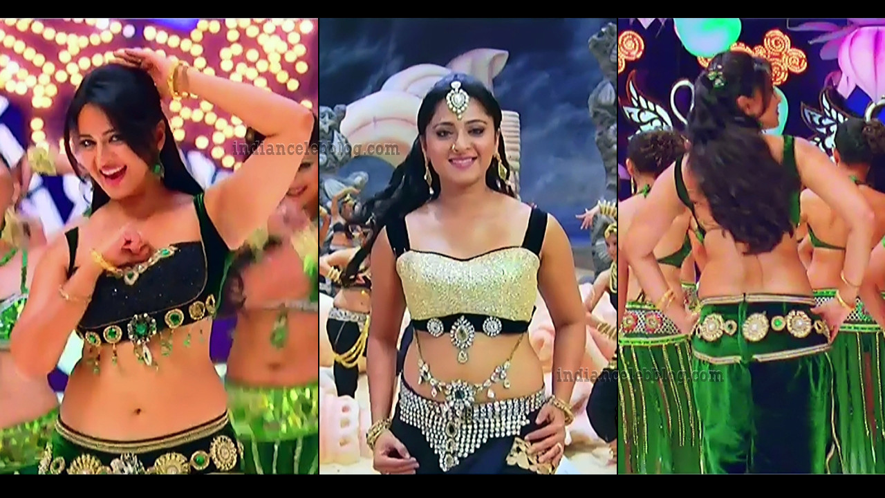 Anushka shetty Mirchi telugu movie hot song caps