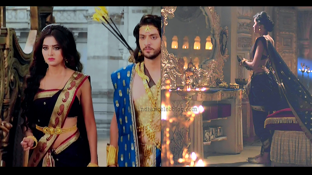 Tejaswi prakash hot Caps from Telly series Karn sangini