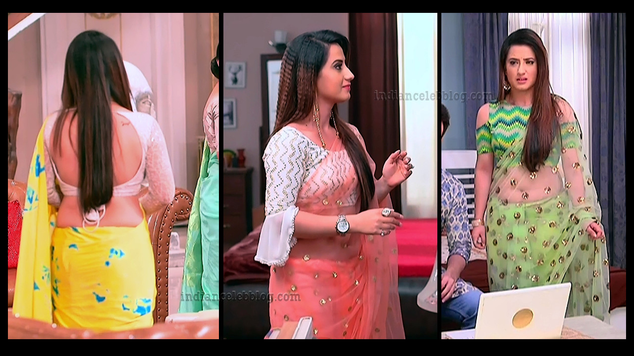 Aalisha panwar Hot backless saree HD TV Caps