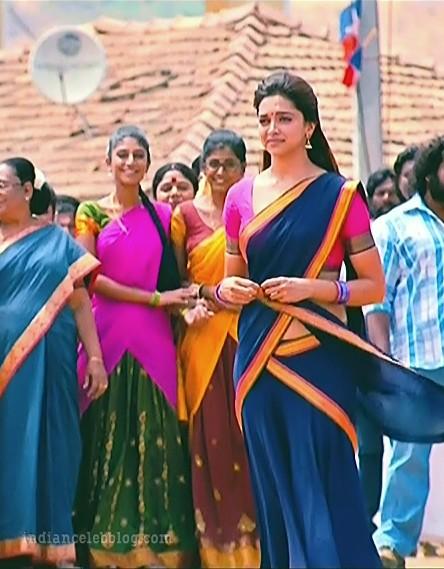 Deepika padukone chennai express S1 47 hot half saree caps ...