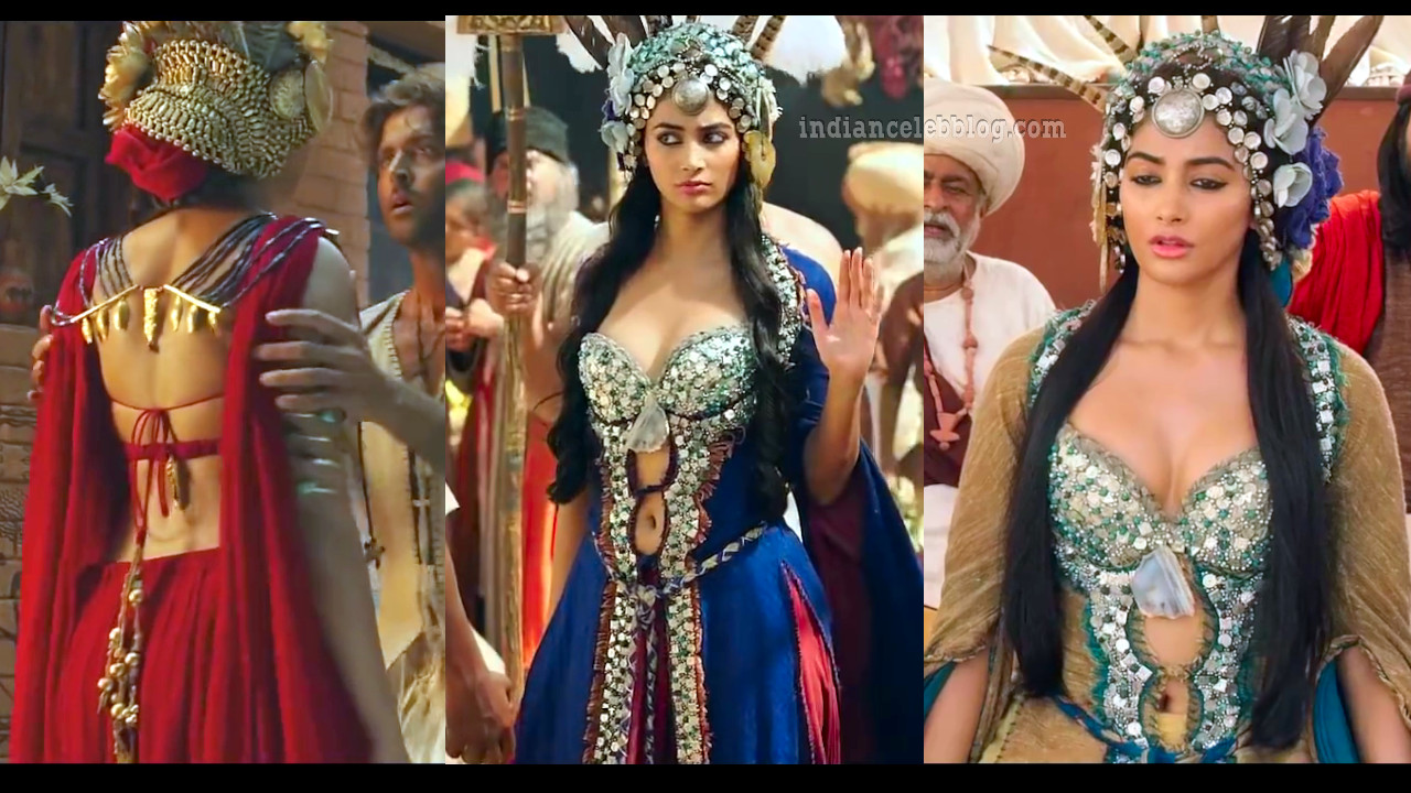 Pooja hedge sexy backless dress bollywood Mohenjo daro hd caps pics
