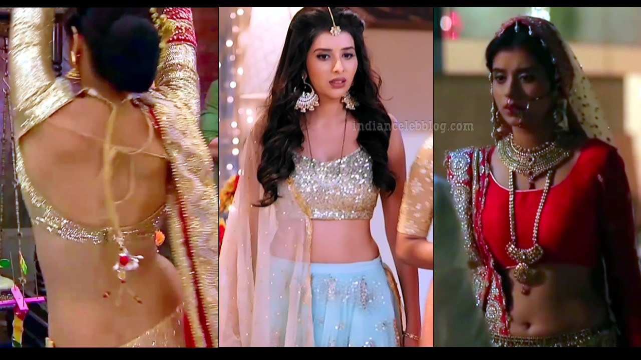 Charu asopa tv celeb sexy backless lehenga choli hd caps