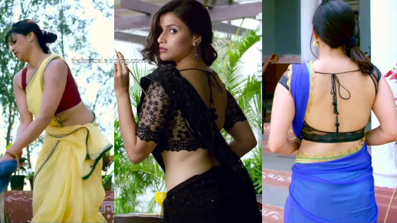 Mannara chopra hot backless saree telugu film hd caps