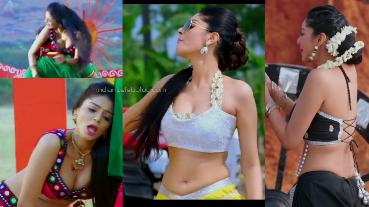 Sanam shetty kollywood actress hot navel cleavage show pics caps