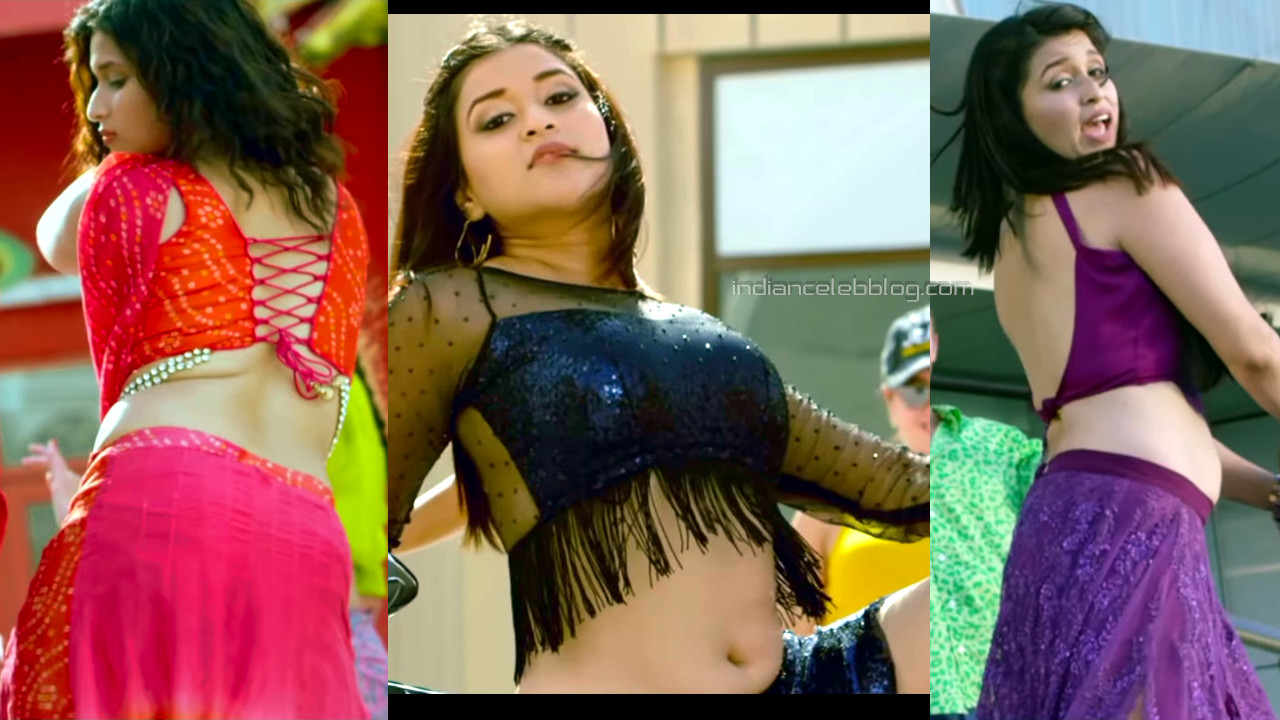 Mannara chopra navel show tollywood hot song hd caps